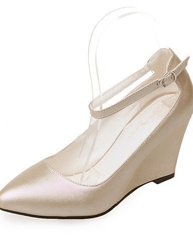 ShangYi Chaussures Femme-Mariage / Décontracté / Soirée & Evénement-Rose / Rouge / Blanc / Amande-Talon Compensé-Compensées-Talons-Similicuir Pink