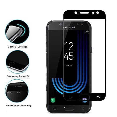 Needyo-Screen Protectors Tempered Glass For Galaxy J3 J5 J7 J530 J330 J730  EU Version A5 A7 A3 Full Cover Screen Protector Film J7 J710 2016 Black