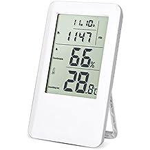 Termometro Igrometro Digitale, Hotchy Digital Humidity Meter Digitale Thermo-igrometro Monitoraggio dell'aria interna con l'orologio sveglia schermo LCD per la casa, l'ufficio e la scuola