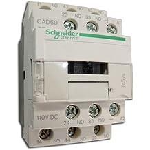 Contacteur 10A à fermeture contact 5NO (5F) 690V bobine 110V CA/CC TESYS SCHNEIDER ELECTRIC CAD50FD