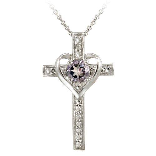 sterling-silver-amethyst-diamond-accent-cross-heart-pendant