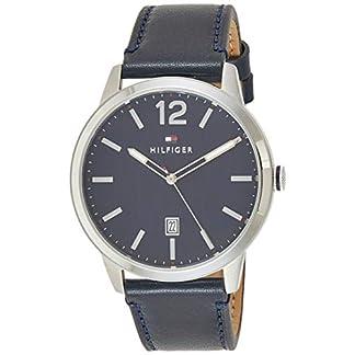 Tommy Hilfiger Reloj Analógico para Hombre de Cuarzo con Correa en Cuero 1791496