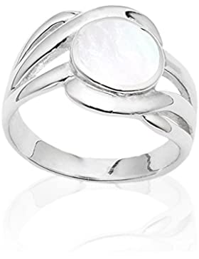 DTPsilver -Ring 925 Sterling Silber mit Perlmutt