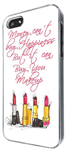 762 - Make Up Lipstick Qute Money Can't buy happiness but it can buy make up Design iphone 4 4S Coque Fashion Trend Case Coque Protection Cover plastique et métal