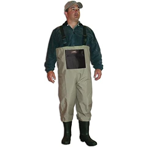 Caddis Men's Taupe Breathable Boot Foot Wader, 9