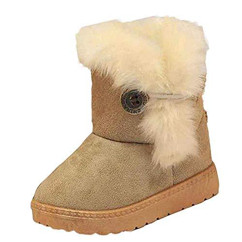 Botas Militares de Nieve Altos para Niñas Pelo Invierno PAOLIAN Zapatos Bebés Niñas Primeros Pasos Recién Nacido Espesar Además Lana Calientes Calzado Chicas Suela Blanda Talla 20-35
