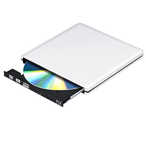 Blu Ray Externe DVD Laufwerk 3D,USB 3.0 4K Blueray DVD CD Rom Player Burner Tragbar für PC MacBook iMac OS Windows 7/8/10/Vista/XP