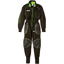 Derbystar Torwartoverall Premium - Pantalones cortos de portero de fútbol para niño, color negro, talla 10 años (140 cm)