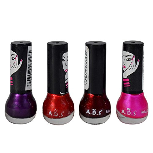 Adbeni New Combo Fashion Colour Nail Polish Set Pack Of 4Pcs