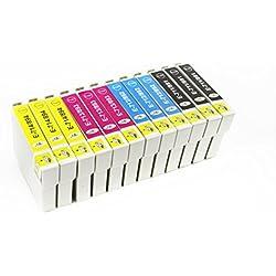 EBY- 12 Tinta Compatible Cartucho Reemplace T0711 T0712 T0713 T0714 para Epson D78 D92 DX4000 DX4050 DX5000 DX5050 DX6000 DX6050 DX4400 DX4450 DX7000F DX7400DX7450 DX8400 DX8450 DX9450 S20 SX100 SX105 SX200 SX205 SX400 SX405 SX600FW BX300F S21 SX110 SX115 SX215 SX218 SX410 SX415