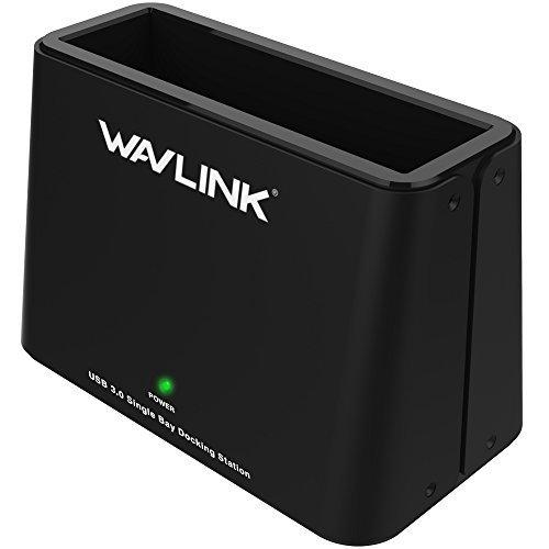 wavlink 6TB USB 3.0zu SATA Single-Bay externe Festplatte Dockingstation für 2,5oder 3,5in HDD, SSD [Unterstützung UASP]-Schwarz
