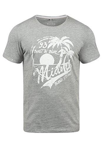 Blend Perry Herren T-Shirt Kurzarm Shirt Mit Print Und Rundhalsausschnitt, Größe:XL, Farbe:Stone Mix (70813) - Hawaii-blumen-muster-shirt