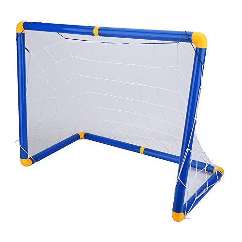 Asixx Mini Fußballtor Set, Kinder Fußball Torpfosten Netz Set aus Kunststoff und PVC Leicht und Tragbar für Gärten oder Parks, 60 x 41 x 29 cm