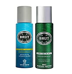 Brut Original+Sport Style Efficacite Longue Duree Deodorant 200ml(Pack of 2)
