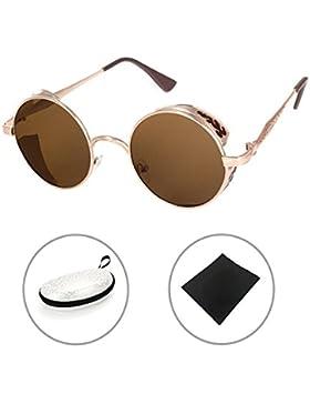 [Patrocinado]Retro gafas de sol Steampunk Metal Vintage Gótico Sunglasses