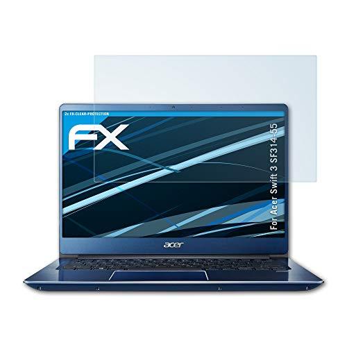 atFolix Schutzfolie kompatibel mit Acer Swift 3 SF314-55 Folie, ultraklare FX Displayschutzfolie (2X)