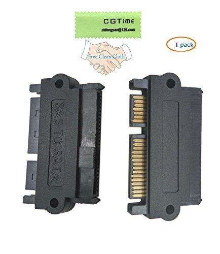 cgtime SAS 22pines a 7pin + 15pin SATA adaptador de disco duro RAID con puerto de alimentación de 15pines