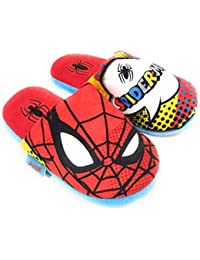Zapatillas Spiderman Marvel de Estar por Casa - Zapatillas Spiderman Slippers Pantuflas para Niños
