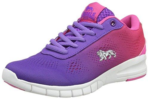 Lonsdale Remi, Scarpe da Corsa Donna, Black Purple (Purple/Pink)