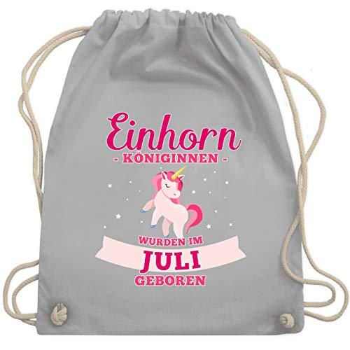 Geburtstag - Einhorn Königinnen wurden im Juli geboren - Unisize - Hellgrau - WM110 - Turnbeutel & Gym ()