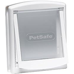 PetSafe 715 - Puerta para perros y gatos, tamaño pequeño, color blanco