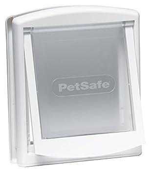 PetSafe - Petite Porte pour Animaux d'Origine Staywell (S), Chatière pour Petit Chien ou Chat, Résistante, Battant Robuste, Panneau de Fermeture Inclus - Blanc