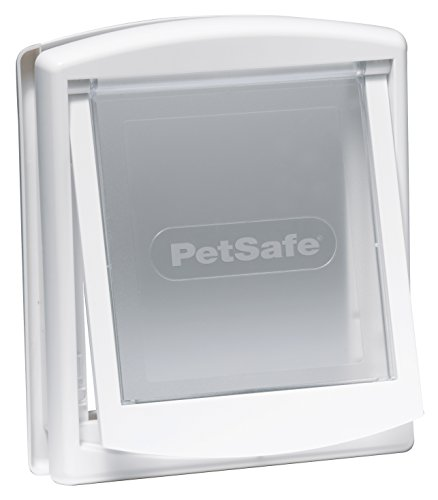 PetSafe 715 - Puerta para perros y gatos, tamaño pequeño, color blan