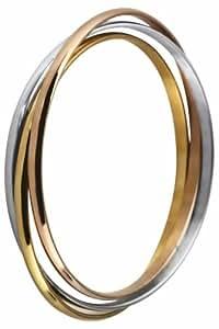 Inox Bracelet jonc à triple Lot de 3 couleurs - 6,5 cm