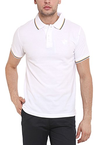 Classic Polo Men Insta Dry Cotton White Half Sleeve T-shirts