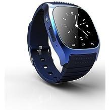 rwatch SmartWatch portátil m26, control de medios de comunicación / manos libres llamadas / podómetro / anti-perdidas para Android / iOS , blue