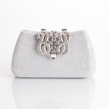Frauen mit Diamanten Luxus Party Abend Tasche Silver