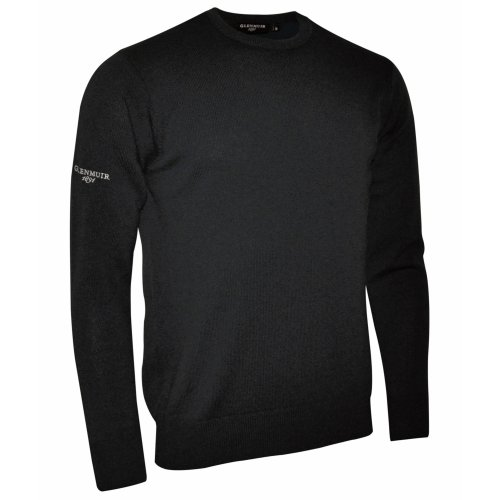 Glenmuir Morar Herren Pullover / Sweatshirt mit Rundhalsausschnitt (Xlarge) (Schwarz)