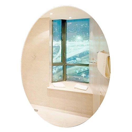GUOWEI Spiegel Oval Hochauflösend An Der Wand Montiert Rahmenlos Badezimmer Bilden Eitelkeit 4 Größe (Farbe : Silber, größe : 60x80cm) -