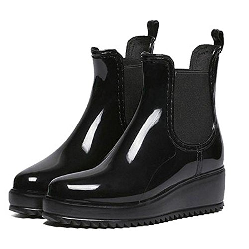 Herbst und winter Mode Lady Anti-Rutsch Wasserdicht Regenstiefel Black