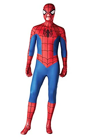 Costume Spiderman SuperSkin - adulte groupe unisexe pas cher halloween spandex lycra zentai - M
