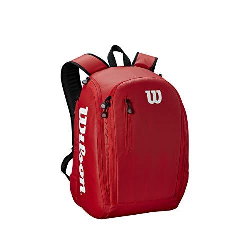 Wilson Tour Backpack Mochila de tenis, para hasta 2 raquetas, unisex, roj