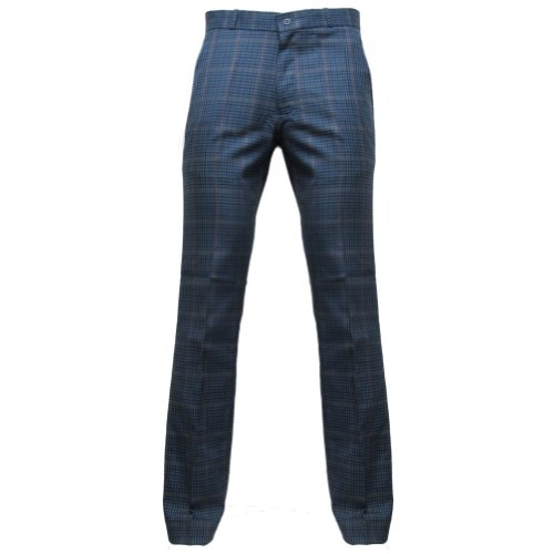 Relco - Herren Sta-Press-Hose - 60er Jahre/Mod-Stil - Tweed Blau - 36