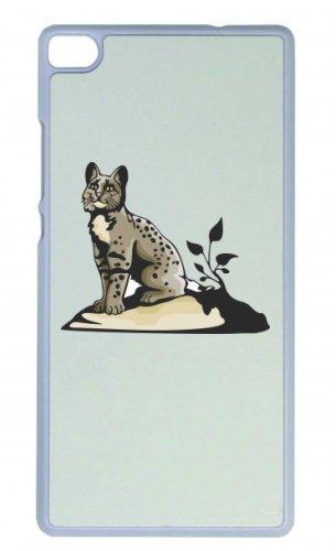 Smartphone Case Baby Tiger in grigio seduto accanto a pianta grosso animale grosso gatto giungla selvaggia per Apple Iphone 4/4S, 5/5S, 5C, 6/6S, 7& Samsung Galaxy S4, S5, S6, S6Edg