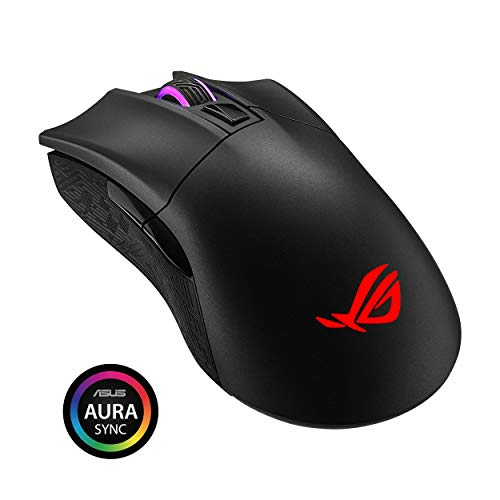 ASUS ROG Gladius II Wireless optische Gaming Maus (DPI-Taste, AURA Sync, 12000 dpi, Bluetooth), Schwarz -