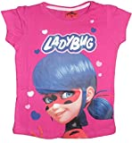 Miraculous Ladybug - Camiseta de Manga Corta - Manga Corta - para niña Rosa Rosa 9 años