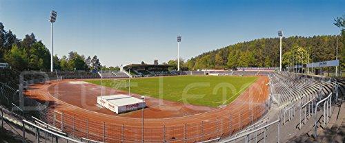 Homburg/Saar Stadion Panorama – Poster 120 x 50 cm – hochwertiger FineArtPrint