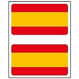 Adesivo Bandiera Rettangolo 2uds. Spagna