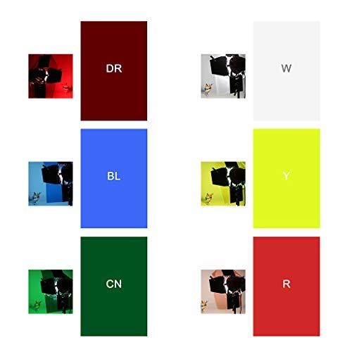 Fafalloagrron Transparentes Farbkorrektur-Licht-Gel-Filter-Set für Fotostudio, Stroboskoplicht