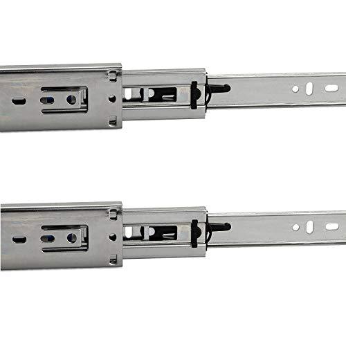 1 Paar (2 Stück) SO-TECH Vollauszüge mit SoftClosing H 45 / L 450 mm Schubladenauszüge Teleskopschienen