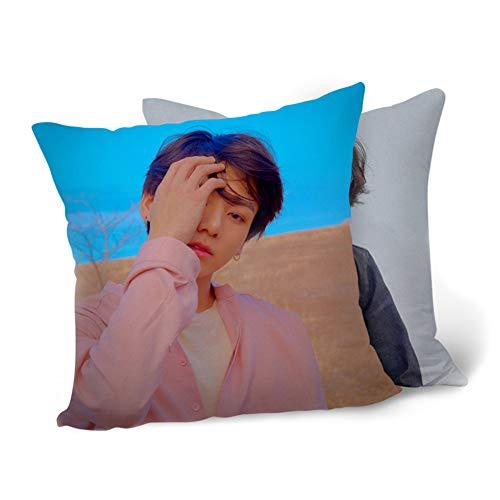 Surenhap BTS Fundas de Cojines 40 x 40 cm Cojines KPOP Bangtan Boy Love Yourself, The Army para sofá Dormitorio Coche