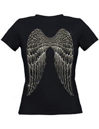 Ethno Designs T-Shirt Angel Wings slim fit