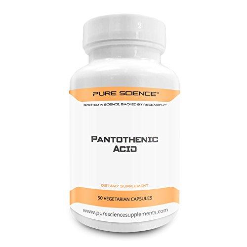 Pure Science Vitamin B5 Pantothensäure 500mg – 50 vegetarische Kapseln