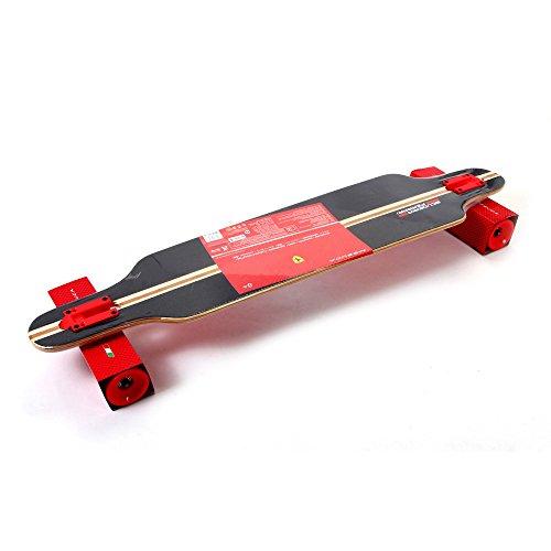 Ferrari Longboard Skateboard FBW15 Deckmaterial Bambus Länge 103cm ABEC 7 Rollen NEU -