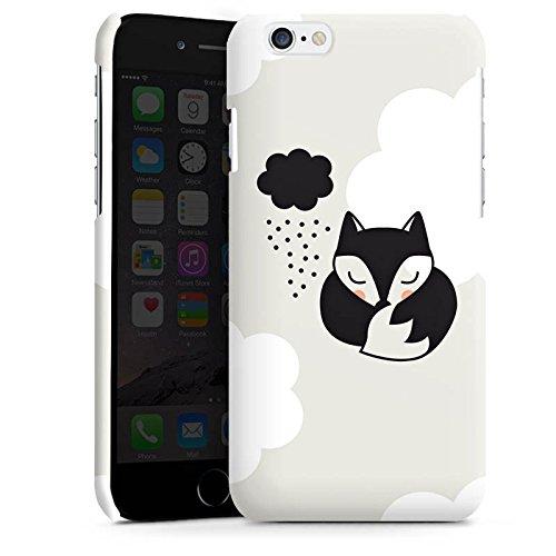 Apple iPhone 4 Housse Étui Silicone Coque Protection Renard Dormir Nuage Cas Premium brillant