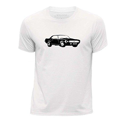 stuff4-chicos-edad-de-9-11-134-146cm-blanco-cuello-redondo-de-la-camiseta-plantilla-coche-arte-camar